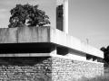 Schwarz-Weiss mit Glockenturm