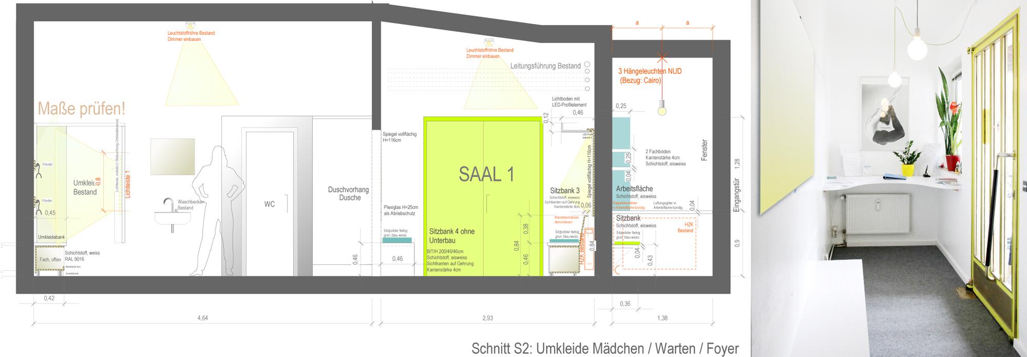 Entwurf Foyer und Wartebereich - Innenarchitektur