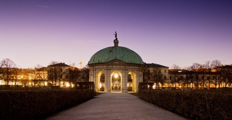 Fotografie in der Dämmerung und Nachtfotografie im Hofgarten